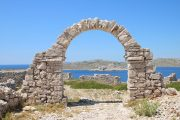 old stone arch on the island